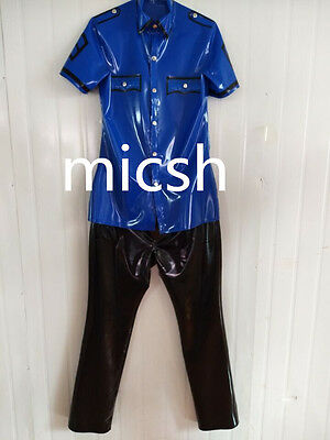 Latex Rubber Gummi Handsome Overall Unique Top and Pants Size Man XXL
