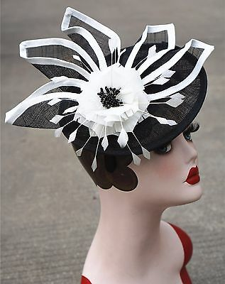 Womens Ladies Dress Fascinator Wedding Kentucky Derby Sinamay Hat  T213