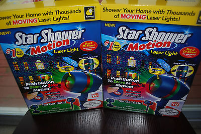 4x Star Laser Christmas Red Green Light Shower Night Motion As Seen on TV 4