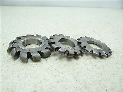 "3 Hss Convex Milling Cutters 2"" To 2-1/4"" W/ 7/8"" Bores Brown & Sharpe National"