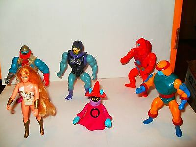 Vintage He-Man Masters of the Universe MOTU,  Six Action Figures