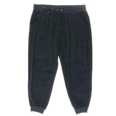 Style & Co. 5815 Womens Navy Banded Bottom Velour Jogger Pants Athletic XL BHFO