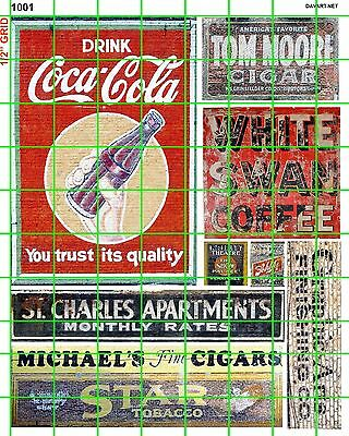 1001 Dave's Decals Ho Ghost Sign Soda Coffee Cigar Apartment Star Tobacco Cola