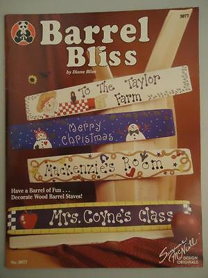 Barrel Bliss Decorative Tole Folk Art Painting Patterns for Wood Staves Book