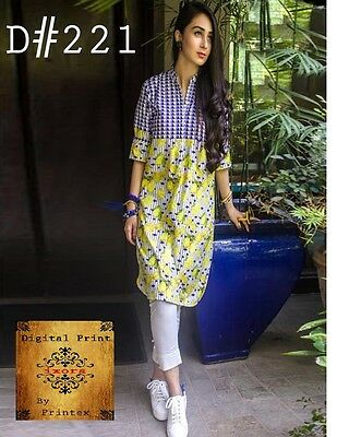 Pakistani Digital Print Lawn Kurta Stitched Indian Designer Kurti Women Tunic