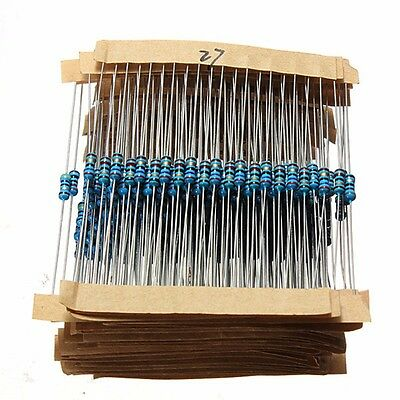 560pc 56 Values 1/4W 0.25W 1% Metal Film Resistors Kit Resistance Assortment Set