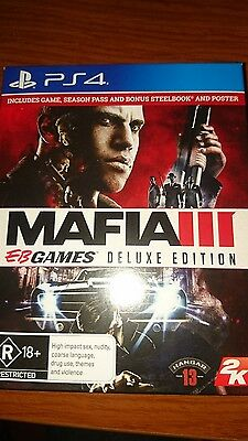 PS4, Mafia 3 , EB Games Delux Edition Brand New | Mafia 3 | PlayStation 4