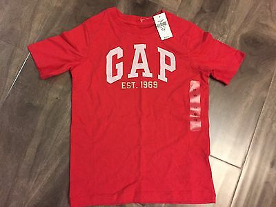 Gap Kids Boys XS 4-5 Red T Shirt Top Log Short Sleeve New NWT