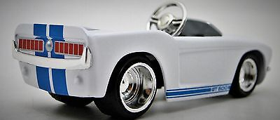 GT Pedal Car Ford Mustang A 1968 Blue Stripes Hot Rod T Metal Body Midget Model