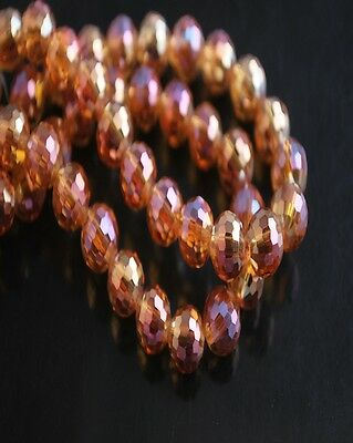 50pcs Wine Red Glass Crystal 96Faceted Round Beads 8mm Spacer Jewelry Findings