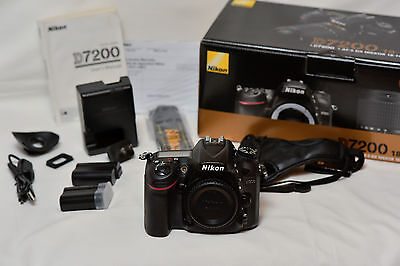 Nikon D7200 Body 24.2MP *PLUS EXTRAS* DX-Format Digital SLR Camera body *GREAT*