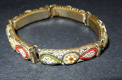 Victorian Antique Micromosaic Bracelet Italy 1900's