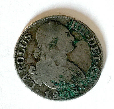 Mexican 2 Reales coin 1808 - King Charles IV of Spain