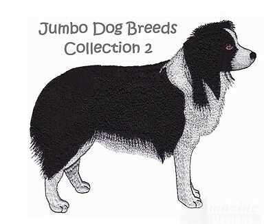 Jumbo Dog Breeds Collection 2 - Machine Embroidery Designs On Cd