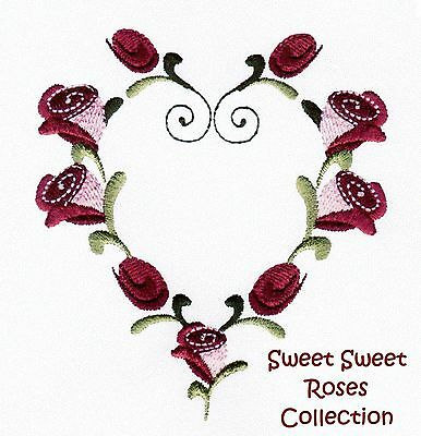 Sweet Sweet Roses Collection - Machine Embroidery Designs On Cd