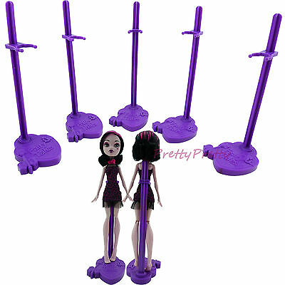 5 Doll Stand Support Purple Model Holder For Monster High F0r Ever After High A