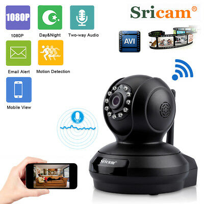 Telecamera Ip Camera 1080P Wireless Led Ir Lan Motorizzata Wifi Webcam Internet