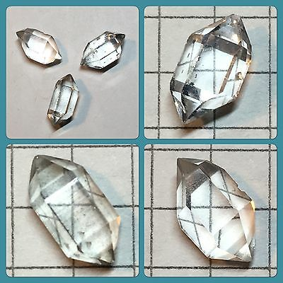 3 Clear Quartz 'Herkimer Diamond' Crystal Mined In Yunnan China 1g