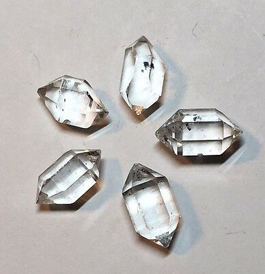 5 Clear Quartz 'Herkimer Diamond' Crystal Mined In Yunnan China 1g