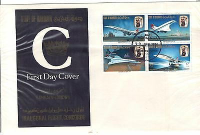 Bahrain - First Commercial Flight of Concorde FDC 1976