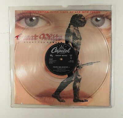 Great White - Heart The Hunter(Uk Limited Clear Vinyl + Poster )Excellent