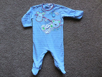 Boys Baby Baby Romper/sleep Suit - Cotton - Size 000 - Very Good Condition