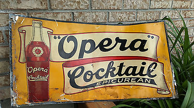 Opera Cocktail Sign very nice RARE Sign