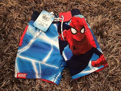 Lovely TU Boys Spider-Man Size 12-18months Swim Shorts New With Tags