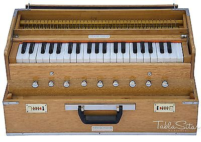HARMONIUM No.5800n|FOLDING|MAHARAJA|NATURAL COLOR|COUPLER|A440|9STOP|BOOK|AHH-1