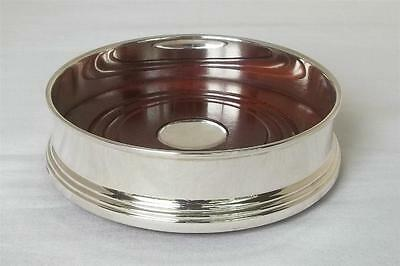 A Large Boxed Sterling Silver & Mahogany Wine Champagne Bottle Coaster Date 2008