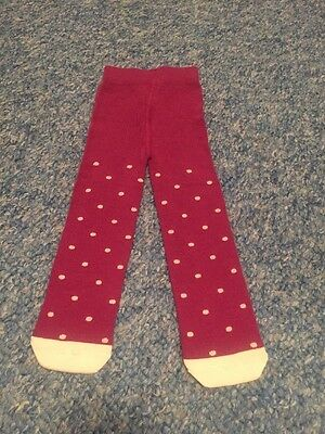 Burgundy Cream Polka Dots Tights New Baby Girls 3-6 Months Clothes