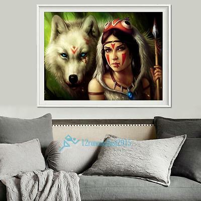 Beauty Wolf 5D Full Drill Diamond DIY Embroidery Painting Cross Stitch Decor Set