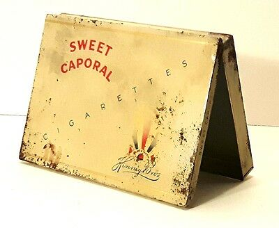 Vintage Sweet Caporal Cigarette Tobacco Tin Metal Container Advertising Box