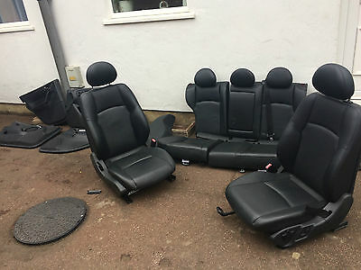 mercedes c class estate w203 HEATED leather seats - interior with door cards