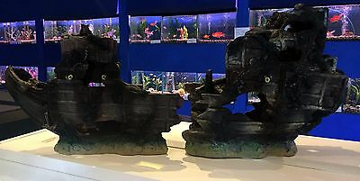 X Large 2 Piece Shipwreck ~ Classic Aquarium Ornament for Larger Fish Tanks