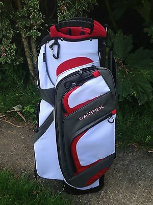 *NEW*  Golf cart trolley bag 15 way divider white 9 pockets 2