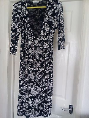 Mothercare nursing maternity dress b/w size 14