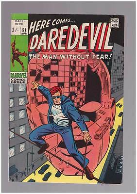 Daredevil # 51  Man Without Fear ; Barry Smith art !  grade 6.0  scarce book !