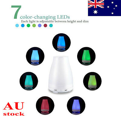 7 Colors 100ml Electric Oil Essential Aroma Diffuser Humidifier Air Purifier LED