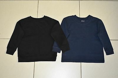 Boys Jumpers x 2 - H&T Black / Target Navy Blue - Size 4
