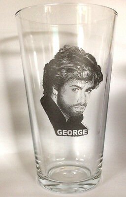 George Michael Pint Size Beer Glass