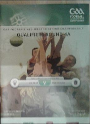 GAA -All Ireland Football Qualifier Clare v Roscommon 2016 Programme inc Ticket.