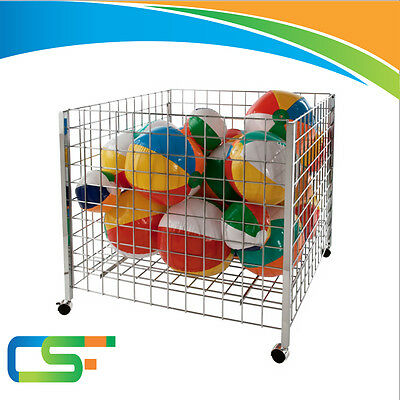 New Square Bin Wire Basket Shop Display Shopfitting & Retail With Wheels