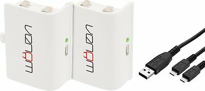 Venom Rechargeable Battery Twin Pack - White Xbox One