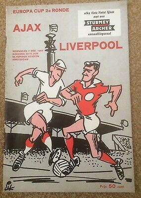 Ajax V Liverpool European Cup 2Nd Round 7.12.1966