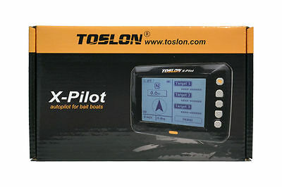 Toslon X-Pilot. Autopilot for Bait boats. GPS, 500 Way points, Batteries, Aerial