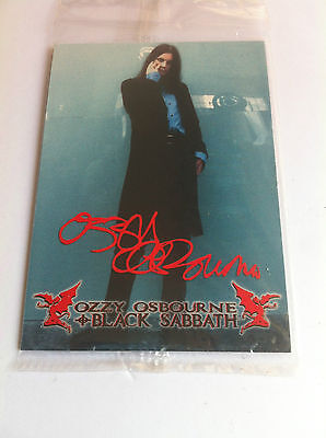 Ozzy Osbourne Black Sabbath Promo Trading Card A1 Sealed