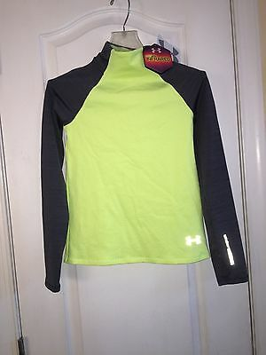 NWT $50 Under Armour Infrared ColdGear Thermal Long Base Layer Top Youth Girl's