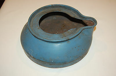 Vintage Antique Metal Bed Pan from Helena Montana Brothel.