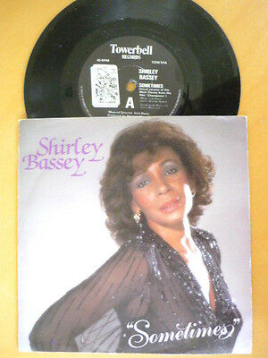Shirley Bassey = Sometimes / He Needs Me - 1984 Excellent Vinyl & Picture Sleeve